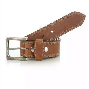 NEW Wrangler Rugged Wear Leather Belt Size 48